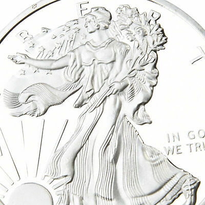 American Silver Color Iron Eagle unc: 1 oz Troy ounce Fine bullion Coin 2000
