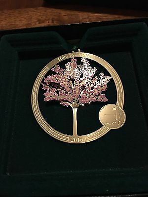The MASTERS 2016 Golf Tournament Augusta National Gold Christmas Ornament! Rare!