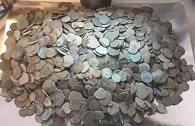 Lot Of 50 X Uncleaned Ancient Roman Coins. Low Quality, Practise Cleaning Only.