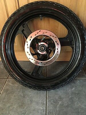 zontes 125cc front wheel rim and tyre and disc