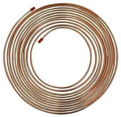 "3/16"" COPPER BRAKE PIPE 25FT (7.5 METRE) with 20 FREE UNIONS! Classic Car"