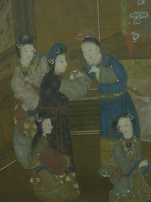 ANTIQUE 18 c.  QING DYNASTY MA QUAN 馬荃 FRAMED PAINTING ON SILK