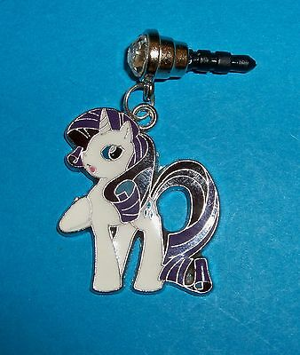 Cell Phone Anti Dust Plug Cover Rhinestone Dangle Charm Little Pony Rarity