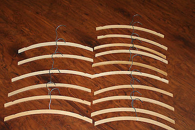 VTG LOT of 16 WOODEN CLOTHES HANGERS