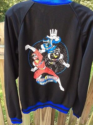 VINTAGE 90'S POWER RANGERS IN SPACE TRACK JACKET SZ LARGE EUC Free Shipping