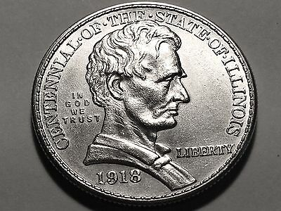 1918 Lincoln Commemorative Half Dollar * Gem BU #3 *