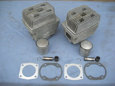 NICE 377 Rotax Complete Top End Assembly Cylinders-Heads-Piston & NEW GASKETS