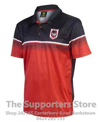 St George Illawarra Dragons NRL 2017 Classic Sublimated Polo Shirt Size S-5XL!