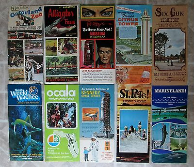Lot Of 8 Vintage Florida Travel Brochures, Gatorland Citrus Tower Weeki Wachee