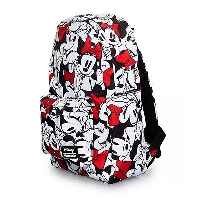 NWT Loungefly Disney Minnie Mouse All Over Print Red/White/Black Backpack