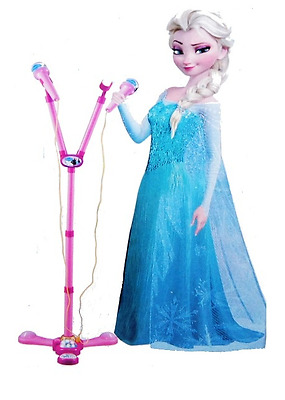 FROZEN Dual microphone with stand Karaoke for 2 children toys gift NEW
