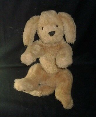 "14"" Vintage 1985 Gund Baby Muttsy Puppy Dog Brown Tan Stuffed Animal Plush Toy"