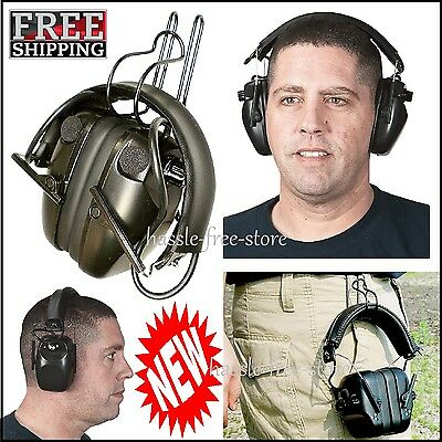 Electronic Ear Muffs Hunting Shooting Protection Safety Comfort Fit Earmuffs