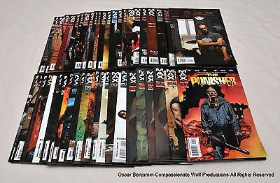 The Punisher-Max!  44 Issue Lot!  Marvel Comics!  Garth Ennis!  The End!  Etc.!