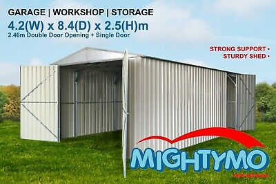 Garden Shed 4.2x8.3M Storage, Workshop, Garage, Large steel sheds, Site sheds