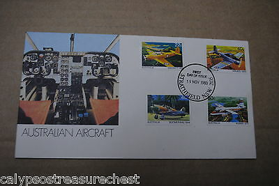 Australian Decimal First Day Cover Fdc - Australian Aircraft - Combined Post