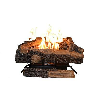 """Oakwood Vent-Free Propane Gas Fireplace Logs Thermostatic Control 24"""" heater"""