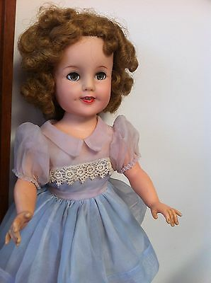 IDEAL Shirley Temple ST19 Doll Original Outfit Dress FLIRTY EYES RARE PINK SHOES