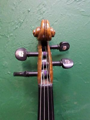 ANTIQUE VIOLIN --- RIGAT RUBUS w/ RARE SCROLL INLAID EBONY