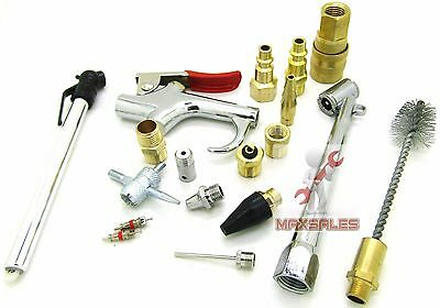 New 18 Pc Pneumatic Air Tool Accessory Blow Gun Set Air Compressor Blow Kit