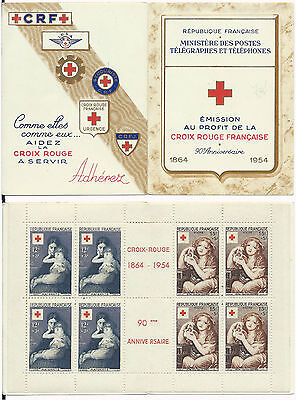 France Carnet Croix Rouge 1954 Neuf**