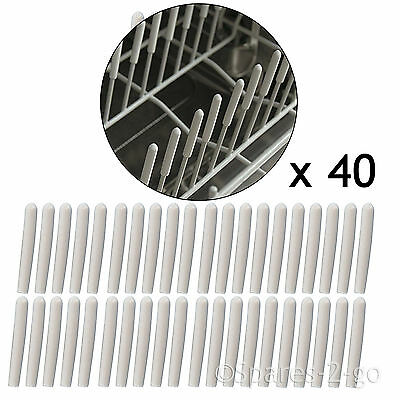 Universal Dishwasher Basket Cage Rack Drawer Prong Cover Protector Caps - 40 Pk