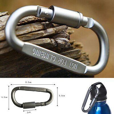 Outdoor Hiking Aluminum Large Carabiner D-Ring Keychain Bottle Clip Hook Buckle
