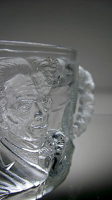 MCDONALDS TWO-FACE BATMAN FOREVER 8oz COLLECTIBLE GLASS MUG 1995 MADE IN FRANCE