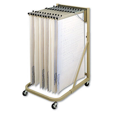 Safco Mobile Hanging Files Metal Stand For Hanging Clamps In