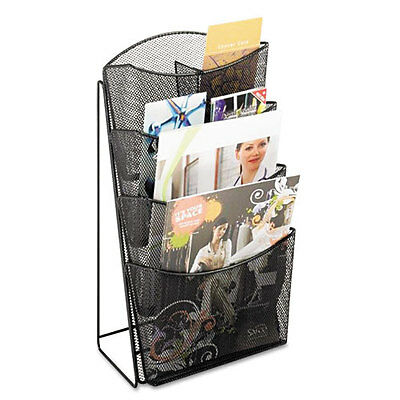 Safco Onyx Mesh Counter Display, Four Compartments, 9 3/4w x 9 1/2d x 18h,...