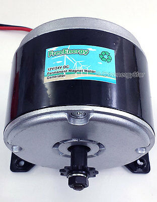 FreeEnergy 12/24V 350W DC Permanent Magnet Motor Generator for Wind Turbine PMA