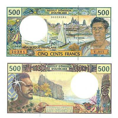 Pick 1 French Pacific Territories 500 Francs 1992 UNC 5799528 ##