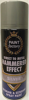 Direct to Metal Hammered Effect Silver Spray Paint 400ml