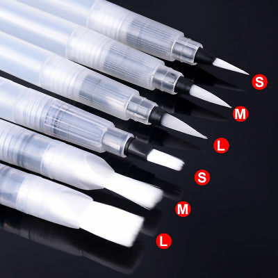 Refillable Pilot Water Brush Ink Pen For Watercolour Painting Calligraphy 6Pcs