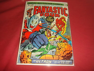 FANTASTIC FOUR #150  Bronze Age Ultron  Marvel Comics 1974  VG/FN