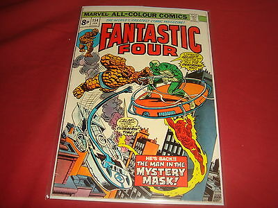 FANTASTIC FOUR #154  Bronze Age  Marvel Comics 1975  FN/VF