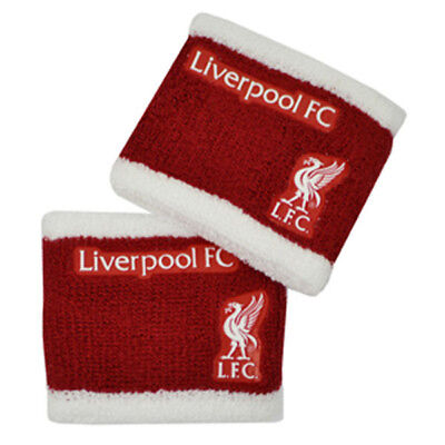 Official Licensed Football Club Liverpool Wristbands Sweatbands 2 Pack Gift New
