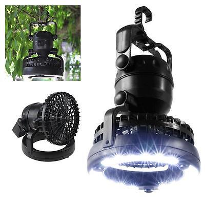 Newest 2 in 1 LED Portable Camping Tent Light Ceiling Fan Outdoor Hiking Lantern