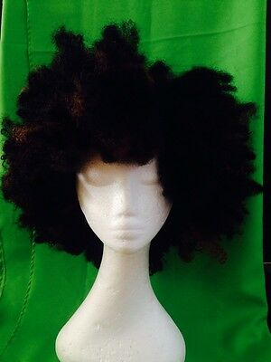 Afro Kinky Crochet  Synthetic Wig Brown Black