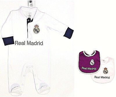 Real Madrid Fc 17 Babies Pram Sleep Suit Baby Grow Play Bodysuit 0-18 Month Rmcf