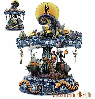 "Tim Burton's -Disney's ""nightmare Before Christmas""- Musical Carousel-New!"