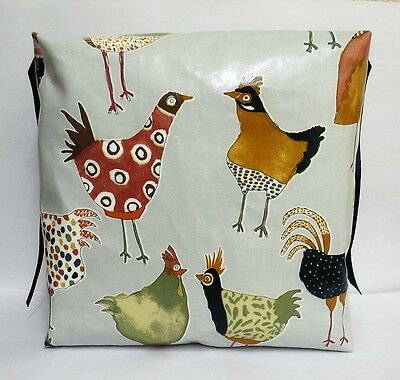 Kids Child Chair Booster Cushion. John Lewis Chickens. With Ties.