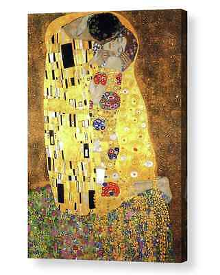 The Kiss by Gustav Klimt Art Canvas/ Print   A4, A3, A2, A1