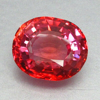 16.59Ct Lab Created Simulated Orange Red Pinkish Padparadscha Sapphire