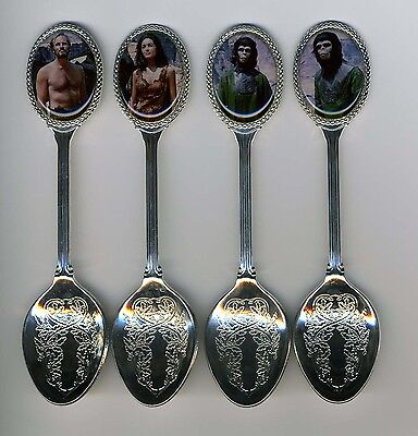 Planet of the Apes 4 Silver Plated Spoons Featuring Planet of the Apes