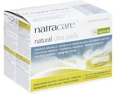 Natural Pads Ultra Regular with Wings, Natracare, 14 piece