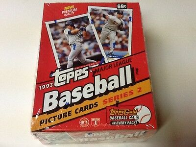 RARE 1993 Topps MLB Baseball Picture Cards Series 2 FACTORY SEALED 36pk Box WAX