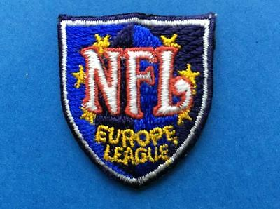 Rare Vintage NFL Europe League Football Jersey Iron On Neck Tag Patch Crest