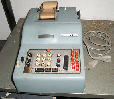 Aov Olivetti Calcolatrice Divisumma 14 Made In Italy Vintage Epoca Calculator