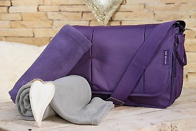 Clair de Lune Oxford Baby Nappy Changing Bag - Purple